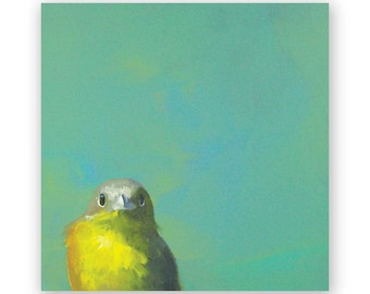 Yellow Bird - 8 x 8 Wings on Wood Decor