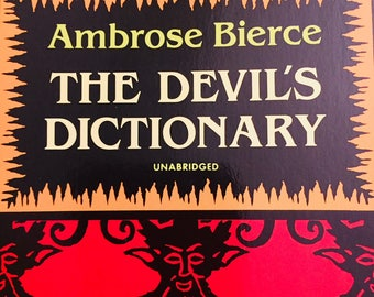 "Softcover Book ""The Devil's Dictionary"" Ambrose Bierce Vintage Book Satirical Humor FREE SHIPPING"