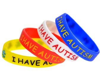 Autism rubber bracelet