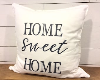 Home Sweet Farm House - Rustic Pillow Cover- Farmhouse Pillow - Multiple Sizes Available - MODERN Farmhouse - Decorative Pillow Covers