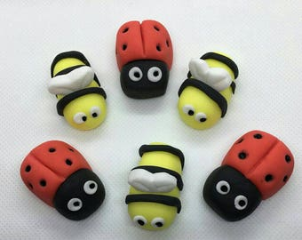 Fondant Bees and Ladybirds