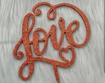 Fancy Love Cake Topper