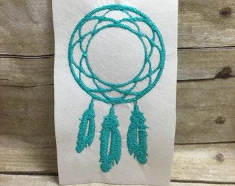 Dream Catcher Embroidery Design, Monogram Dream Catcher Frame