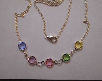 Swarovski Crystal Bezel Necklace
