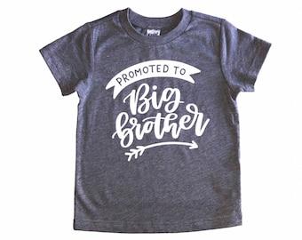 Promoted to Big Brother - Big Brother - Big Brother Shirt - Pregnancy Announcement - Pregnancy Reveal - Baby Announcement - Bro Shirt