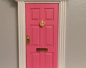 Handmade Magical Hot Pink glitter fairy door