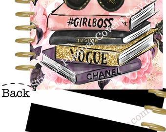 Planner Covers, Girl Boss Planner Cover, Glam Planner, Boss Lady Planner, Fashion Girl Cover, Boss Girl Cover, Happy Planner Cover, EC Cover