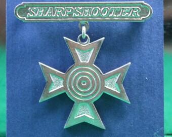Vintage Sharpshooter Medal Free Shipping Domestic USA