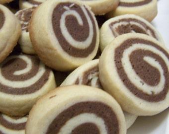 Chocolate Vanilla Pinwheel Cookies - 1dz