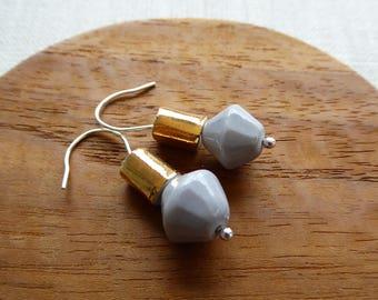Bicone Hook Earrings