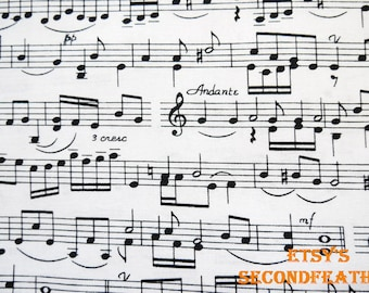 Music Score - Timeless Treasure - 100% Cotton Fabric - 1/2 yard - more for one cut - F2
