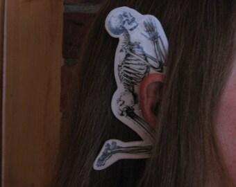 Praying Skeleton Ear Wings