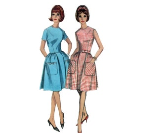 60s Fit and Flare Dress pattern Full Skirt Dress pattern vintage 32-25-34 Sundress pattern Simplicity 5874