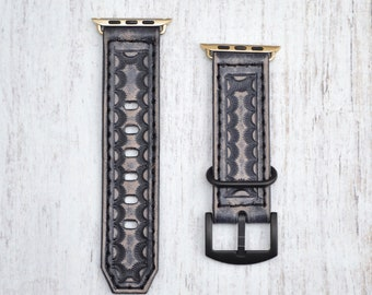 Leather apple watch band 38mm / 42mm // apple watch accessories - leather apple watch strap - iwatch band leather - lugs adapter