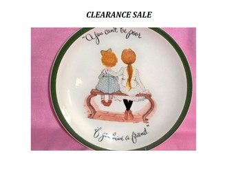 Holly Hobbie - Vintage Collector's Plate - 1972 - CLEARANCE SALE