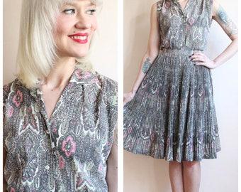 1960s Dress Set // Custom Craft Blouse & Skirt Set // vintage 60s dress set