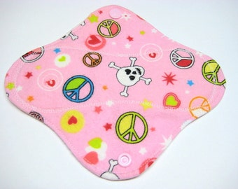 7 1/2 inch Leak Proof Reusable Cloth Pad / Incontinence Pad / Mama Cloth - Customize Your Flow Level, Fabric and Backing