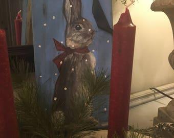 Snow Bunny Painting