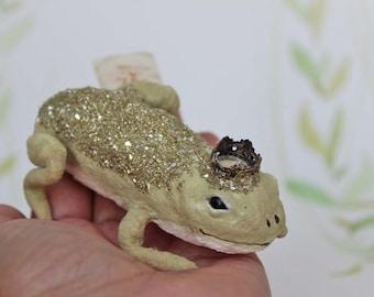 Filé de coton personnage grenouille glitter fairy tale grenouille Noël ornement coton
