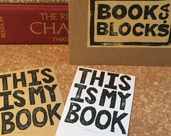 This is my Book Block-printed Self-adhesive Bookplates