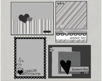 Love, Jessica Digital Scrapbooking Card Templates