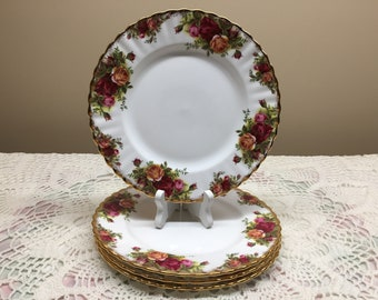 Royal Albert Old Country Roses Salad Plates Set of 4
