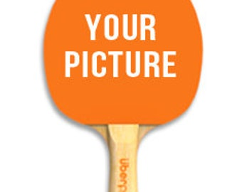 Custom Paddle Ping Pong Table Tennis Personalized text picture