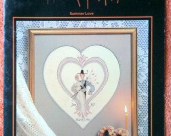 P Buckley Moss Cross Stitch Chart Summer Love June Grigg Designs Leaflet 105 1984