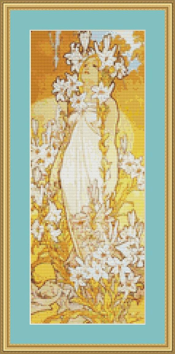Lily Cross Stitch Pattern /Digital PDF Files /Instant downloadable