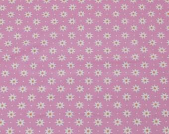 """LAMINATED Cotton  - Pink Starburst, 56"""" Wide, BPA & PVC Free"""