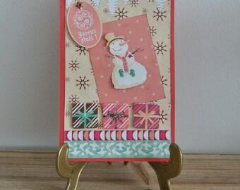 Card - Merry Christmas - snowman