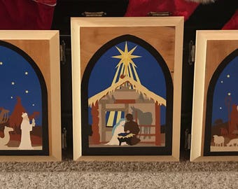 Three piece nativity scene