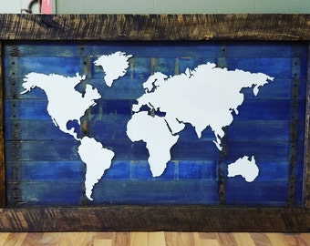 Map of The World (blue back)