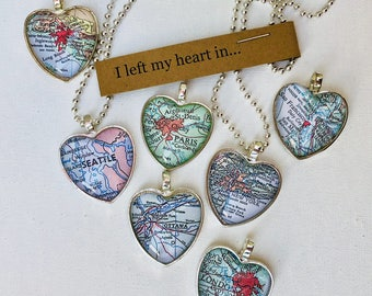 Map heart necklace - Canada