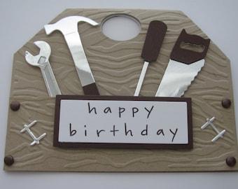 Happy Birthday Card, Gifts for Dad, Tool Box Card,Handyman Cards, Handyman, Masculine Card, Dad Cards, Dad's Birthday Card, Gifts for him