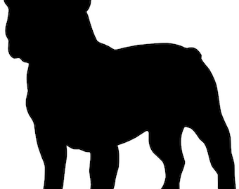 10 Inch FRENCH BULLDOG Vinyl Dog Decal Silhouette Black or you pick the color