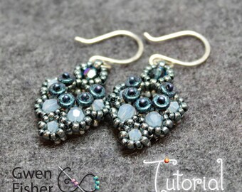 Beading TUTORIAL Floret Earrings and Necklace Beaded with Modified Prismatic Right Angle Weave MPRAW