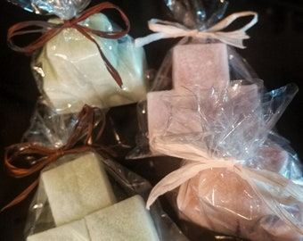 Sugar Scrub Cubes - exfoliating wash, scrubby soap, party favors, thank you gift