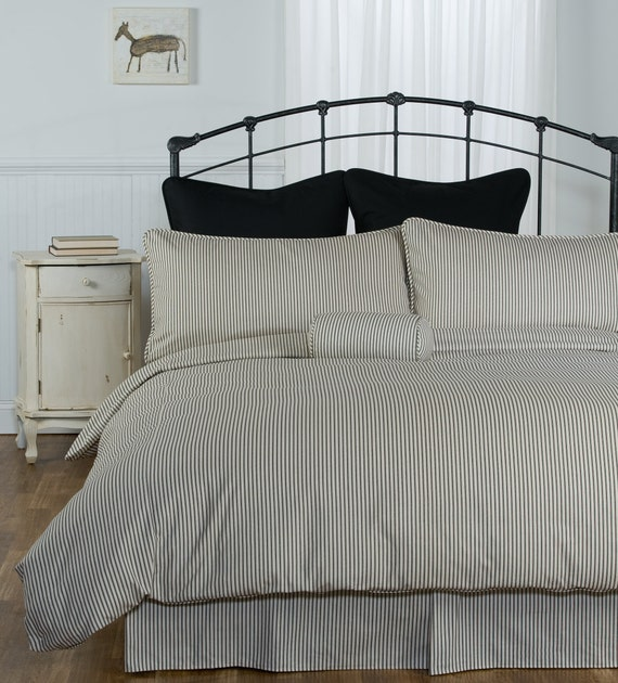 marron ray coutil housse de couette made in usa. Black Bedroom Furniture Sets. Home Design Ideas