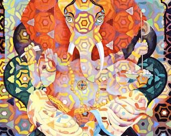 """Ganesha 10""""x8"""" - Giclee print"""