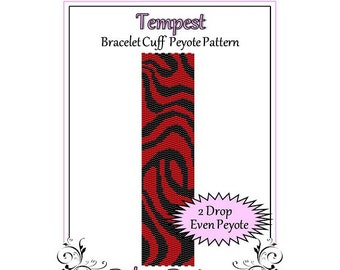Bead Pattern Peyote(Bracelet Cuff)-Tempest