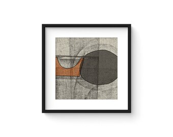OMNIA no.4 - Abstract Modern Minimalist Mid Century Brutalist Style Art Print