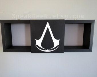 Assassin's Creed - Shadow Box Shelf - Home Decor- Cubbie Shelf - Hand Made - Hand Painted - MADE TO ORDER