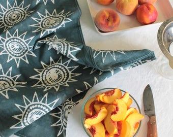 sunshine batik tea towel