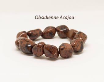 Mahogany Obsidian nuggets bracelet