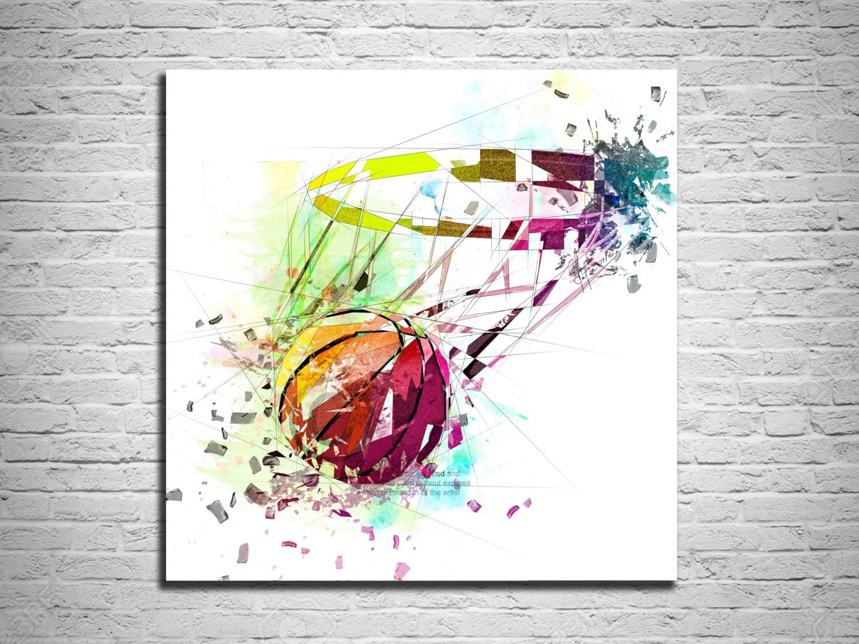 Room Decor Art Canvas Print Basketball Art Sports Wall Art Basketball