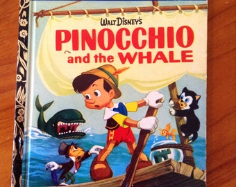 Pinocchio and the Whale - Walt Disney's Little Golden Book - First Printing 1972 Sydney D71