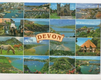 Vintage Devon England Postcard | Devonshire United Kingdom UK  | Paper Ephemera