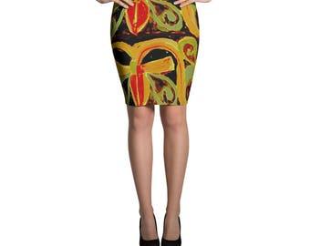Bowtie Pencil Skirt