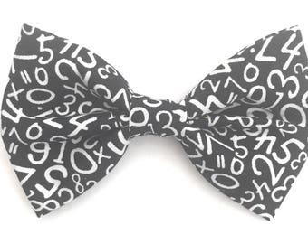 Numbers Bow Tie, Black Bow Tie, Men's Black Bow Tie, Novelty Bow Tie, School Bow Tie, Math Bow Tie, Numerical Bow Tie, Boys Bow Tie